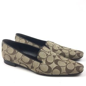 Coach monogram smoking slipper loafer flats